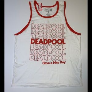 Marvel Deadpool Have a nice day tank top L